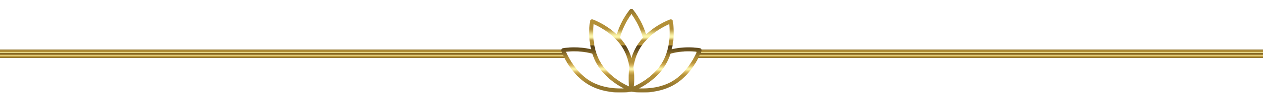 Gold Lotus Horizontal Divider